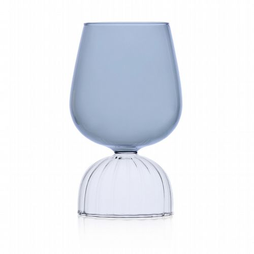 Milanese Glass - Skirt Glass - Wine Glass - Smoke